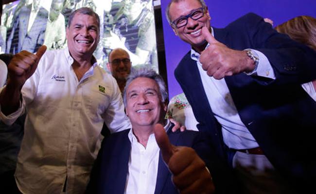Se impone candidato oficialista en Ecuador; perohabría segunda vuelta
