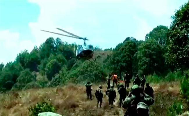 Confirman ataque a helicóptero del Ejército en la región triqui