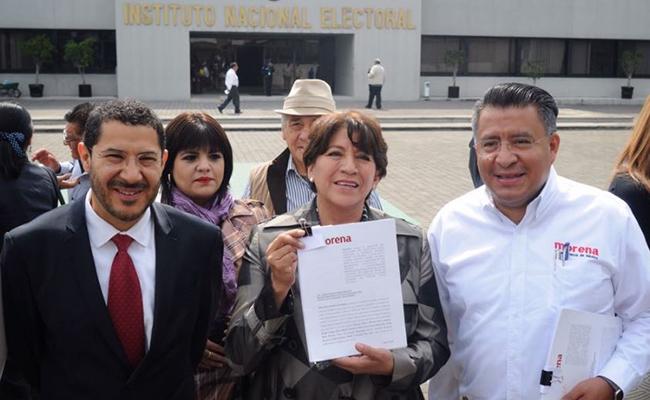 Denuncia Delfina Gómez violencia de género en su contra