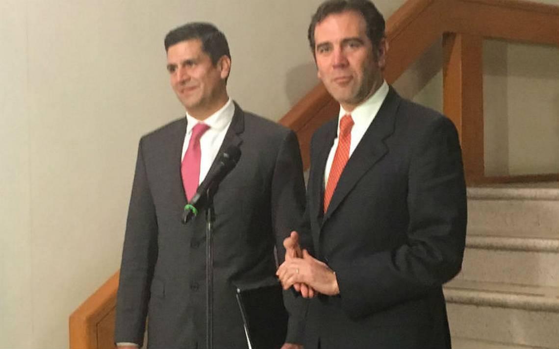 Nuevo Fiscal Electoral se reúne con Lorenzo Córdova para delinear trabajo de cara a 2018