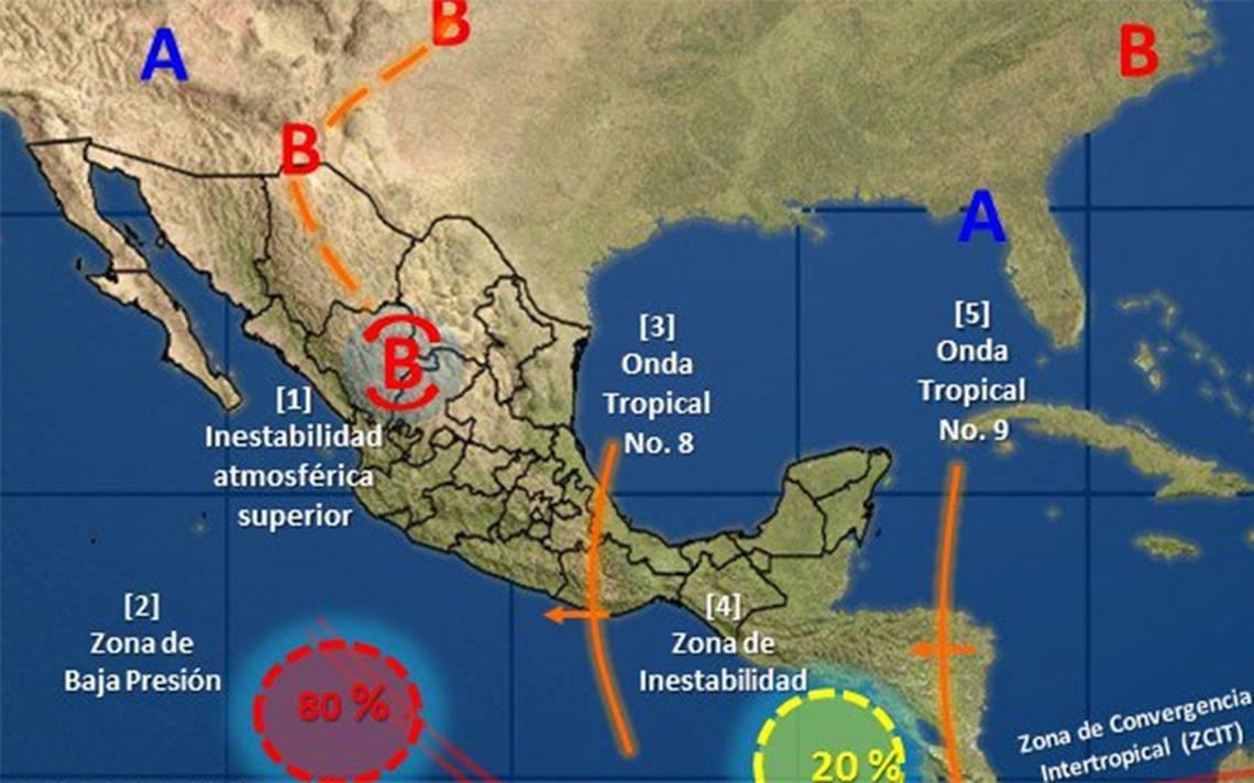 Tormenta tropical 8 provocará lluvias y viento este miércoles