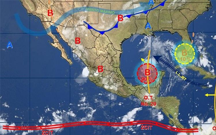 Por remanente de Harvey, prevén tormentas intensas en sur y sureste del país