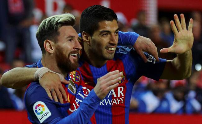 Messi nuevamente iguala en la cima a Luis Suárez