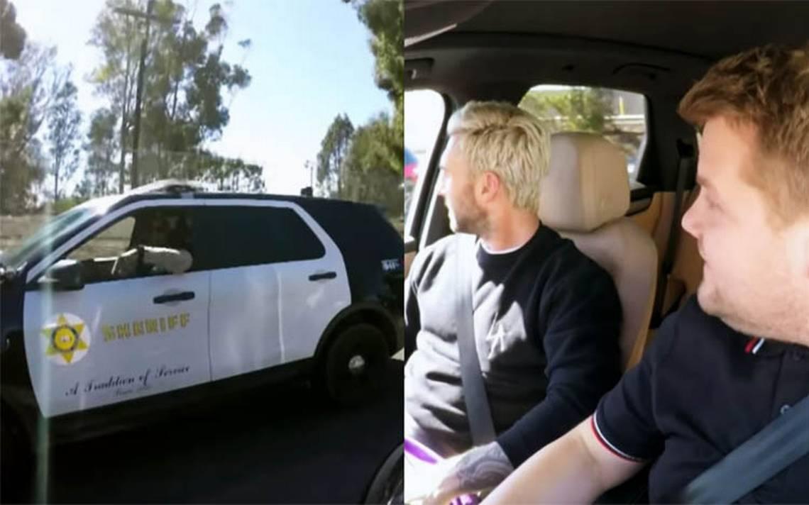 ¿Adam Levine y James Corden arrestados en pleno Carpool Karaoke?