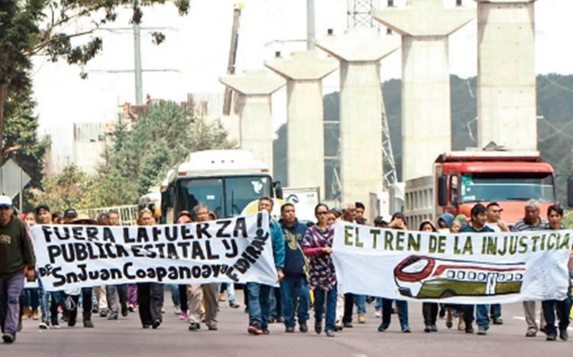 No se detiene obra del tren interurbano: ganan comuneros juicio de amparo