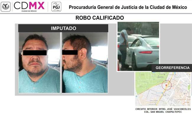 Detienen a presunto asaltante relacionado con robos a actores