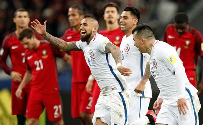 Chile, primer finalista de la Confederaciones tras imponerse a Portugal