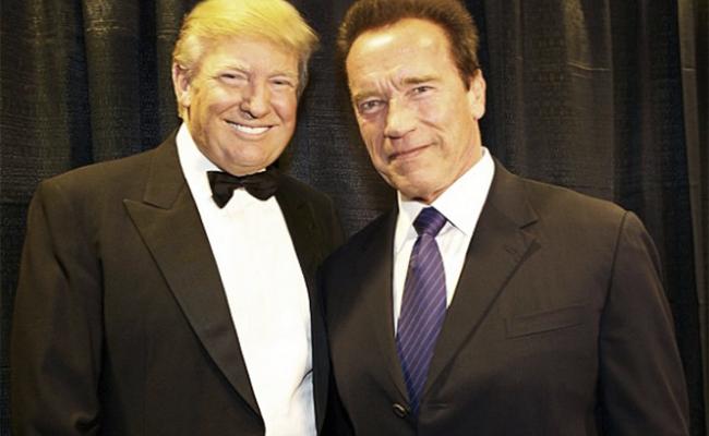 Trump pide rezar para subir audiencia Schwarzenegger