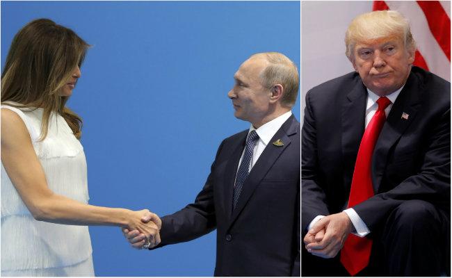 Frank Underwood, de House of Cards, alienta a Putin para besar a Melania