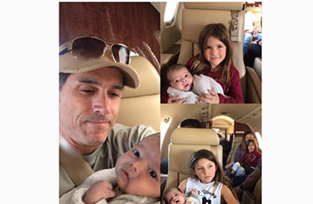 Abuelo feliz, Sergio Mayer presume a nieta Mila