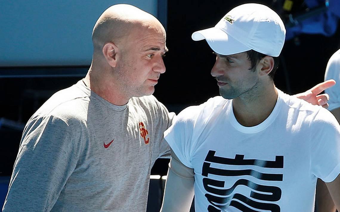 Novak Djokovic rompe relación con su entrenador Andre Agassi