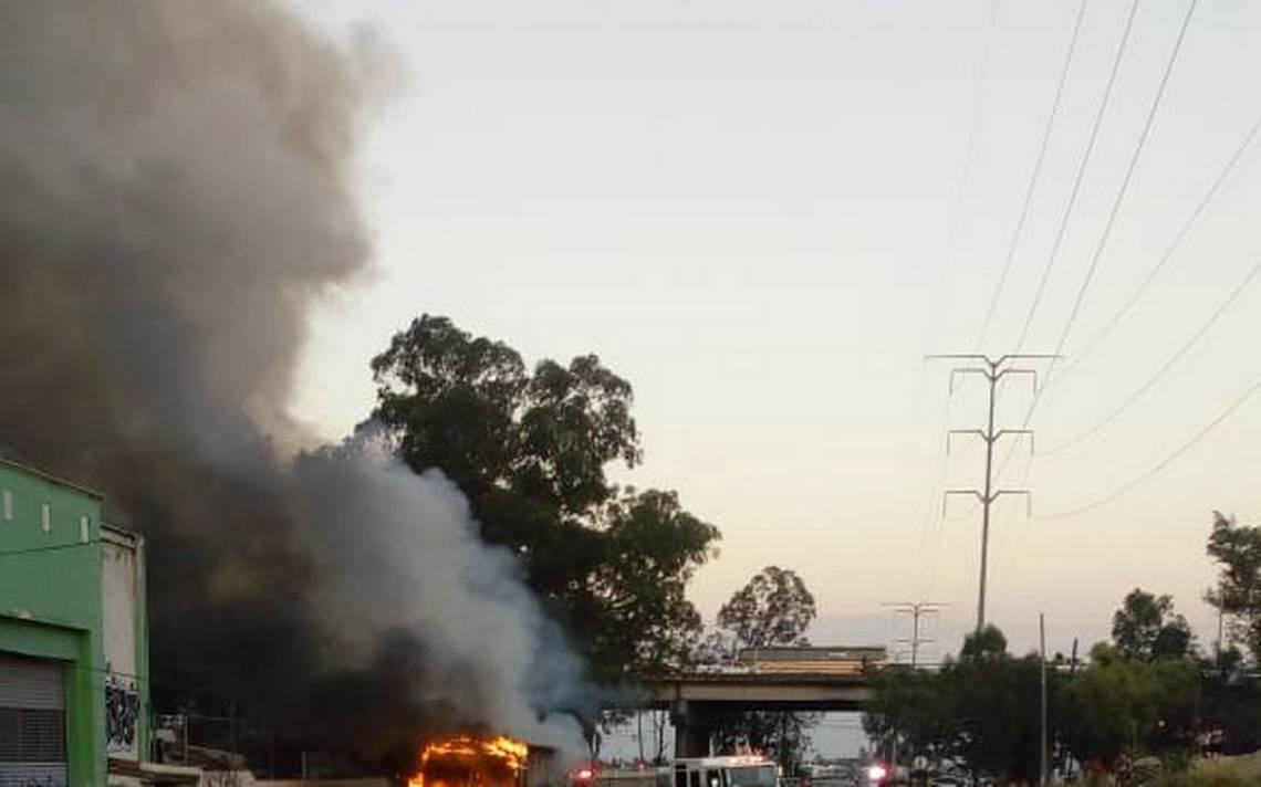 Dan de alta a cinco víctimas del incendio a camión en Zapopan