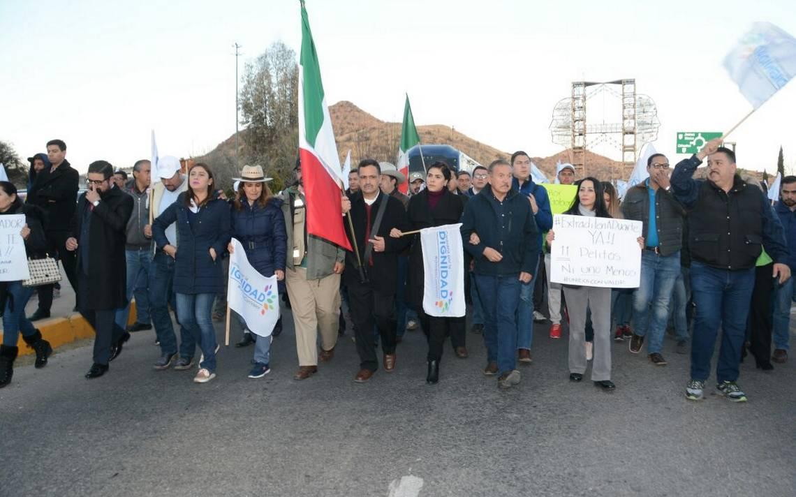 Caravana por la Dignidad llega a Parral