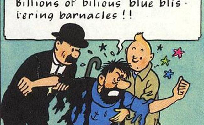 """Subastan en París ilustración original de """"Tintín"""""""