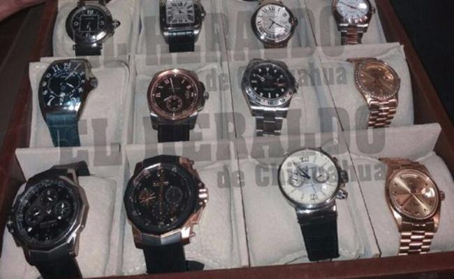 Aseguran colección de relojes de ex diputado