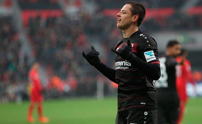 """""""Chicharito"""" Hernández, el mejor jugador de Febrero en la Bundesliga"""