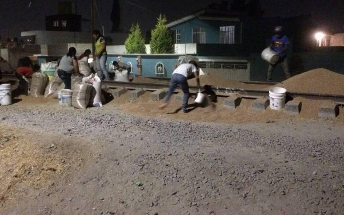 Frustran saqueo al tren en Xochimehuacán pero no logran detener a delincuentes