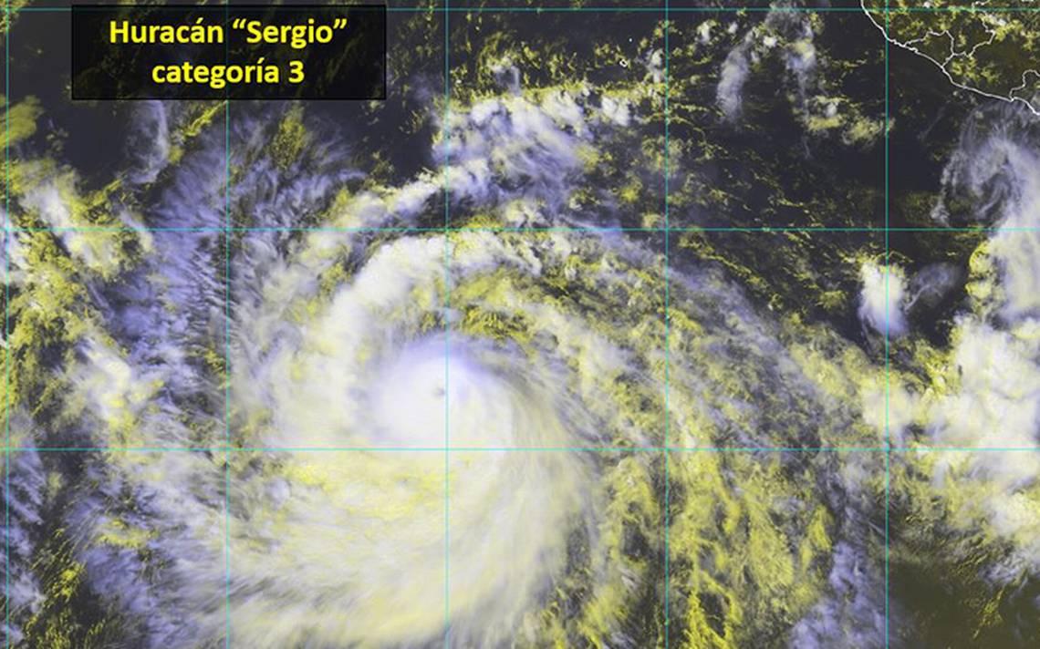 Huracán Sergio sube a categoría 3 pero no afectará al país