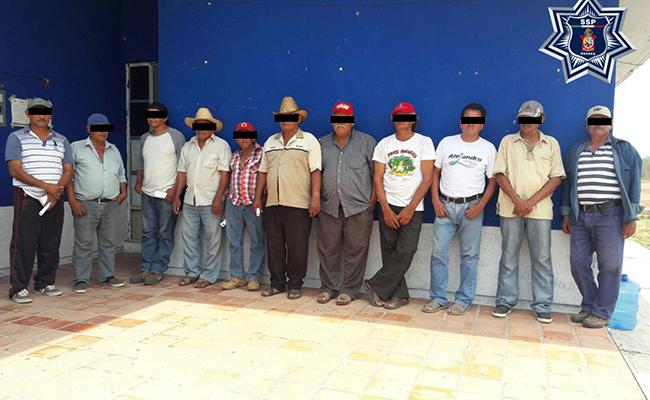 Capturan a 11 personas en Oaxaca
