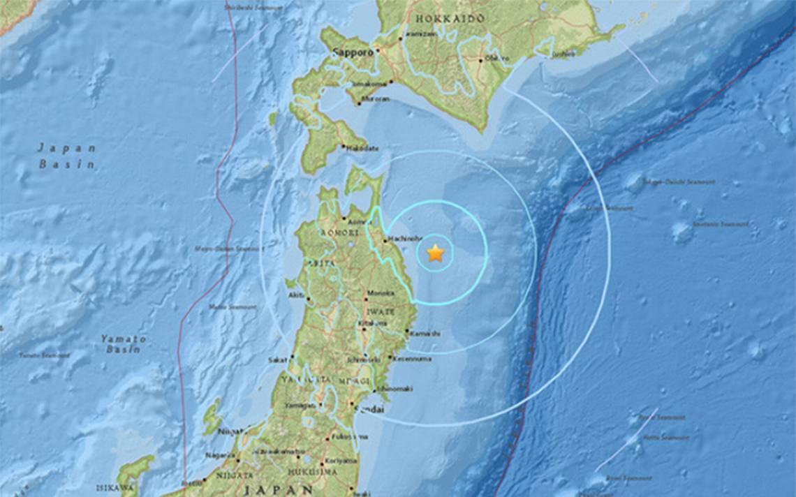Sismo de 5.9 sacude al sureste de Hachinohe, Japón