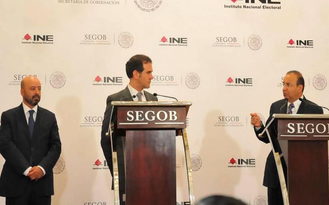 Presentan Segob e INE protocolo de protección a candidatos presidenciales