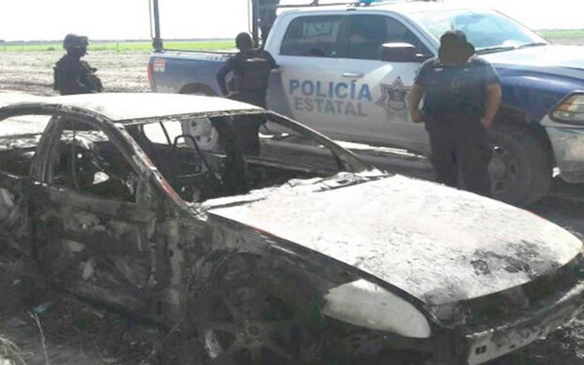 Hallan 6 cuerpos calcinados en automóvil en carretera de Tamaulipas