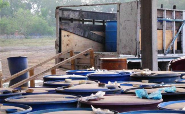 Aseguran 16 mil 400 litros de diesel en San Luis Potosí