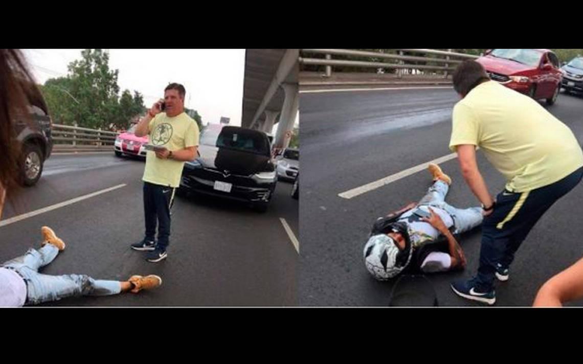 [Video] Miguel Herrera, involucrado en accidente en PerifA�rico Sur
