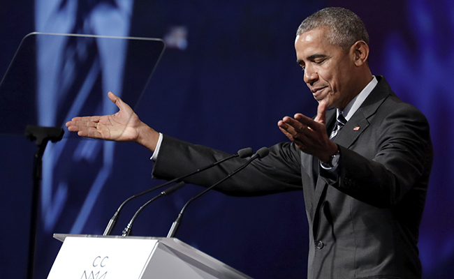 """Obama lamenta """"ausencia de liderazgo"""" tras salida de EU del Acuerdo de Paris"""