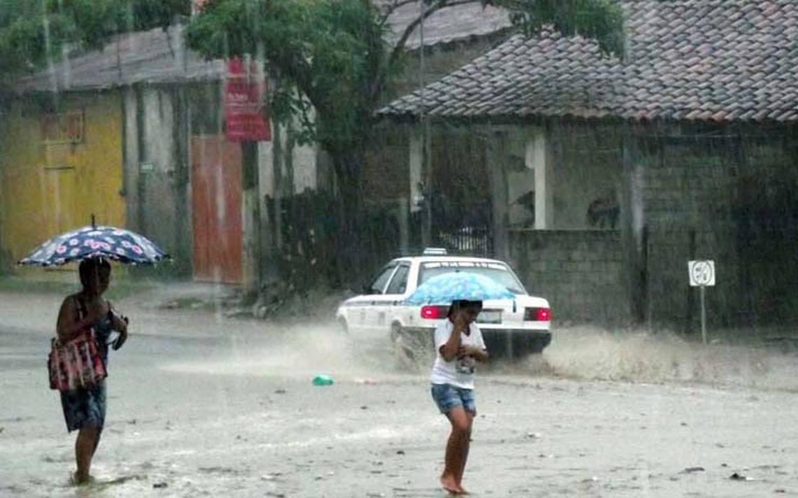 PrevA�n tormentas de muy fuertes a intensas en Tamaulipas, NL y SLP
