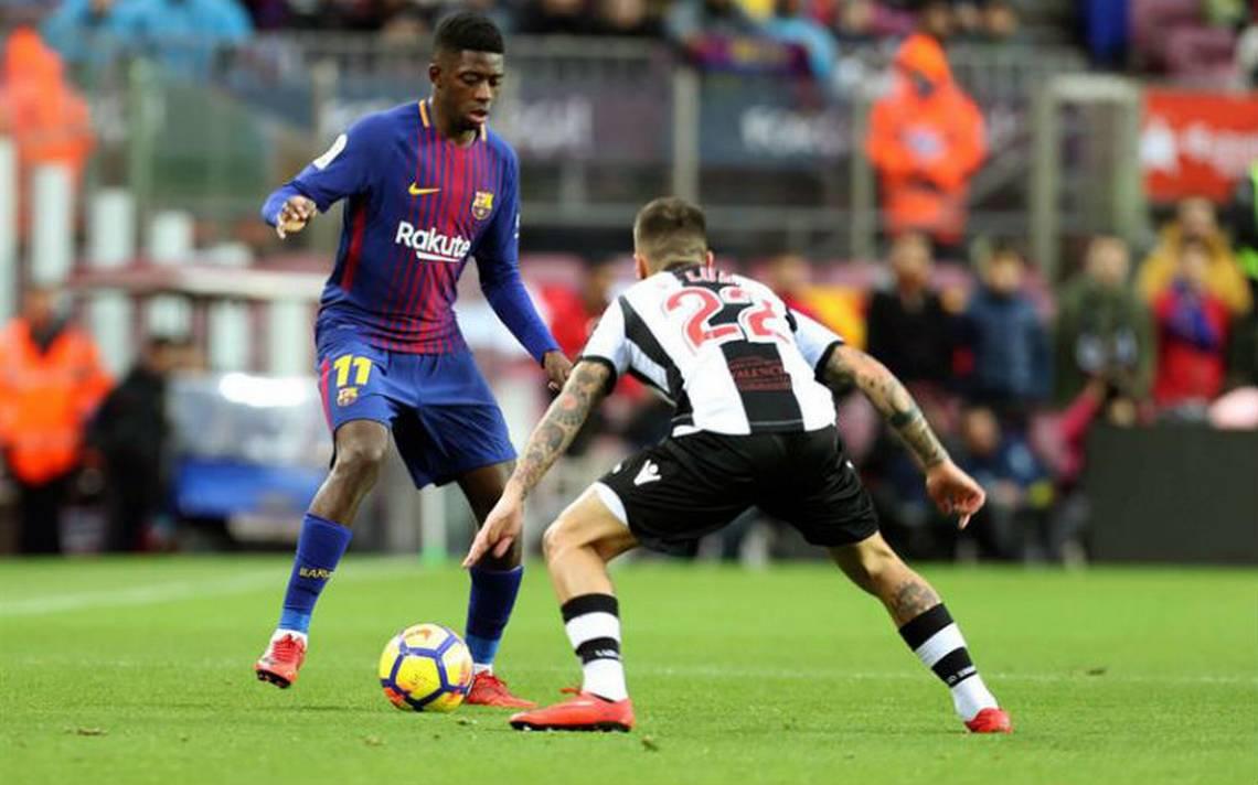 Por lesión, Dembélé estará fuera del Barcelona de tres a cuatro semanas