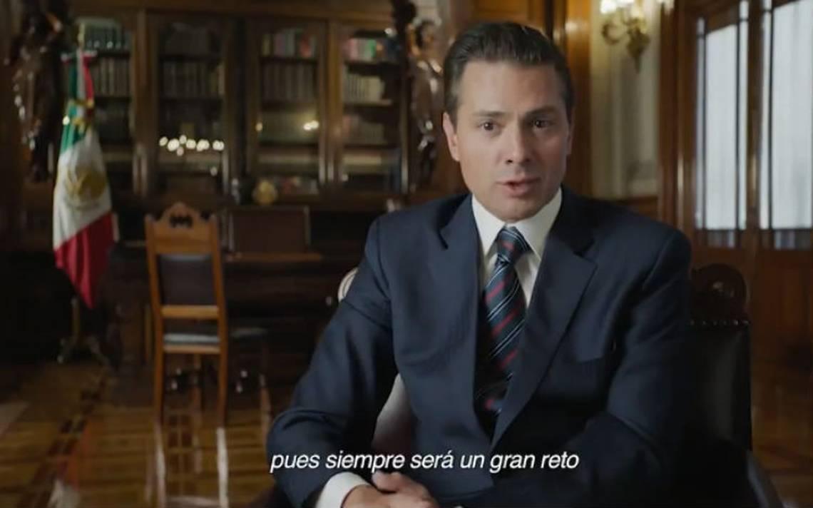Peña Nieto recuerda los sismos y huracanes que enfrentó en su sexenio