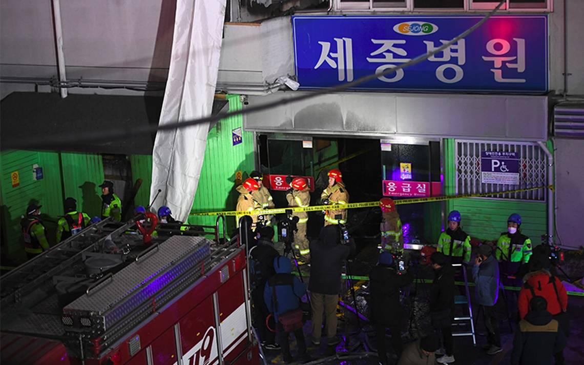 Rebajan a 37 los fallecidos en incendio de un hospital en Corea del Sur