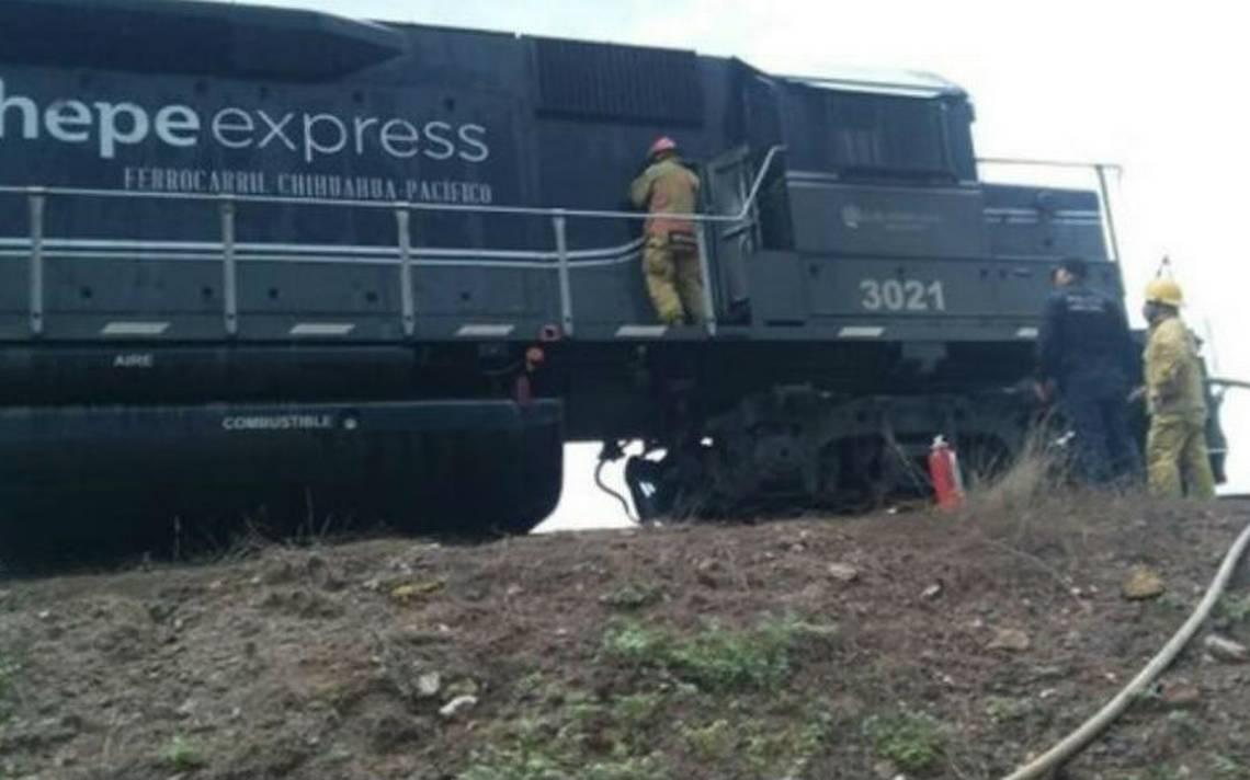 Se incendia el Chepe Express en Sinaloa