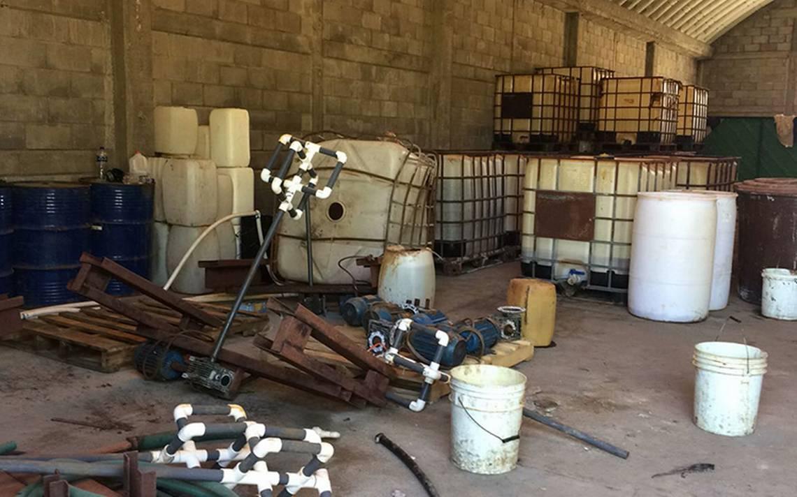 Aseguran laboratorio clandestino en Sinaloa