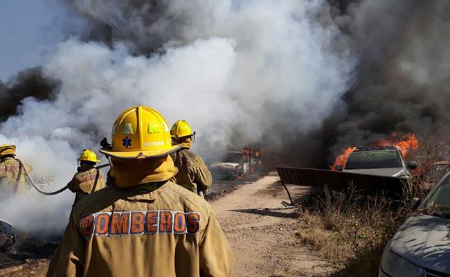 Se incendia encierro de PGJ en Oaxaca