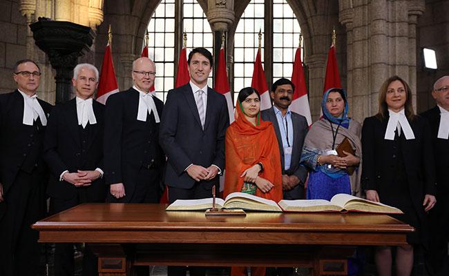 Trudeau nombra a Malala ciudadana honoraria de Canadá