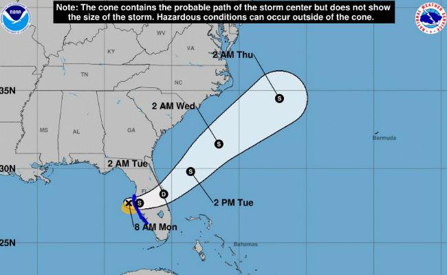 Tormenta Emily toca tierra en Florida; hay emergencia en 31 condados
