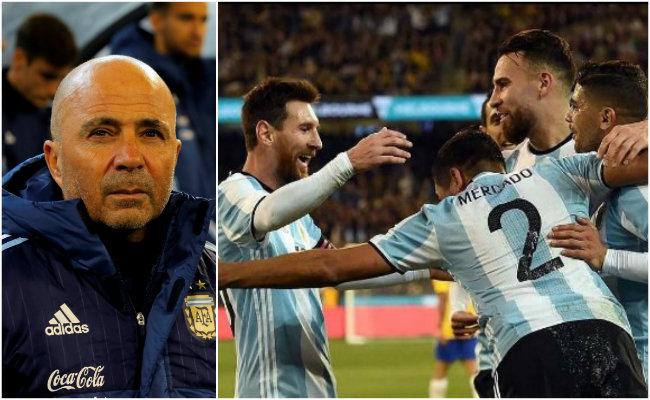 Argentina vence a Brasil en debut de Sampaoli, quien dice tienen que mejorar