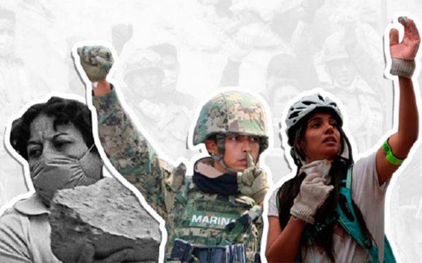 Rinden homenaje a damnificados en explanada de Bellas Artes