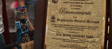 En Morelos otorgan reconocimiento póstumo a Don Mario Vázquez Raña