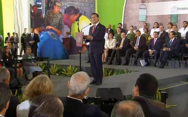 Se requieren 4 mil 500 mdp para rehabilitar instancias de salud tras sismos: Peña Nieto