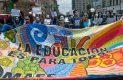 Estudiantes rechazados se manifiestan en la SEP