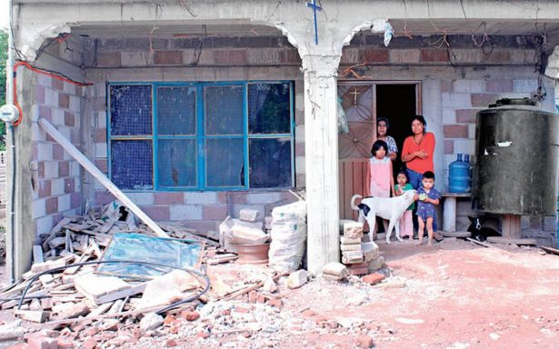 Reclasifican daños en 700 viviendas poblanas ; tenían daño total