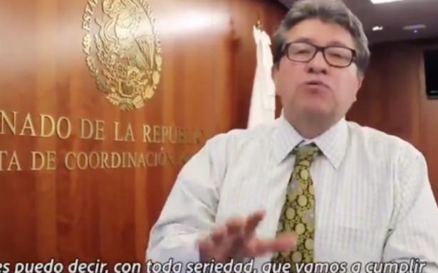Asegura Monreal que Morena modificará la Reforma Educativa