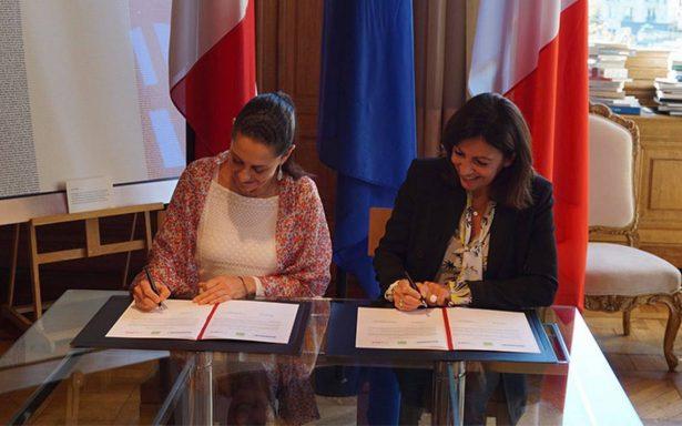 Sheinbaum firma acuerdo de cooperación con alcaldesa de París