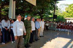 Realiza 36 zona militar programa Lunes Cívico en Escuelas del Soconusco