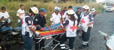 Dos lesionados en fuerte accidente
