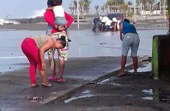 [Galería] Mar de fondo causa estragos en zona costera de Tapachula