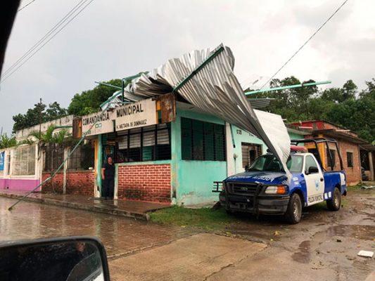 Lluvias de esta tarde dejan afectaciones en Metapa de Domínguez